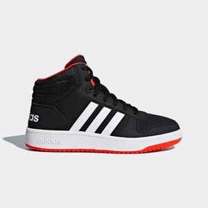 Adidas Black Red White Mid
